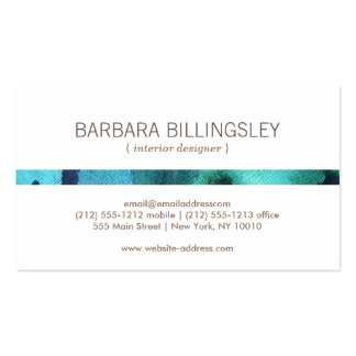 FLORAL PATTERN II for Interior Designer, Decorator Pack Of Standard Business Cards
