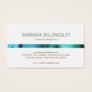 FLORAL PATTERN II for Interior Designer, Decorator Business Card
