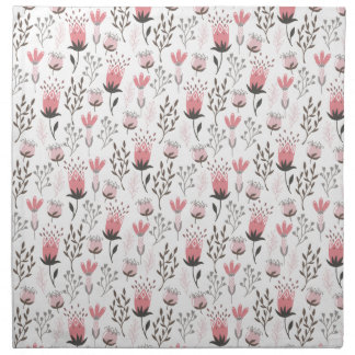 Floral pattern in Pink and Magenta Napkin