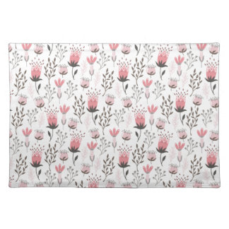 Floral pattern in Pink and Magenta Placemat
