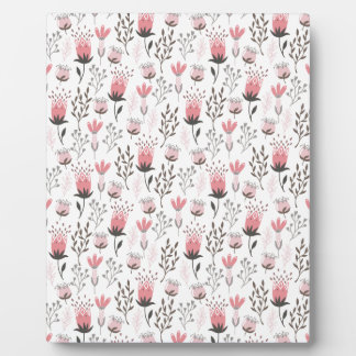 Floral pattern in Pink and Magenta Plaque