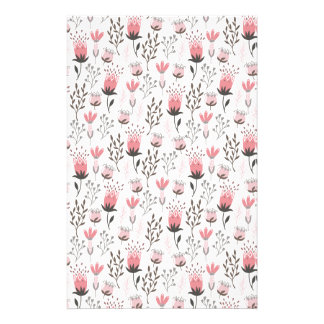 Floral pattern in Pink and Magenta Stationery