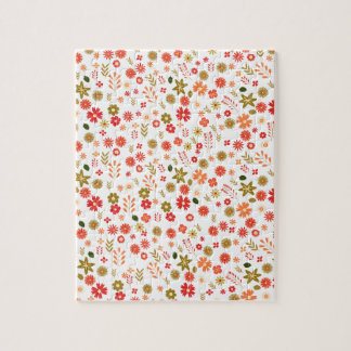 Floral pattern jigsaw puzzle