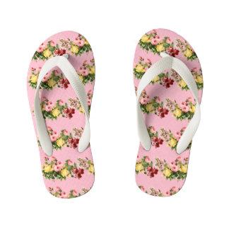 Floral Pattern Kid's Thongs