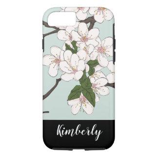 Floral Pattern Ladies Monogram iPhone 8/7 Case