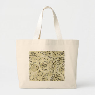 Floral pattern large tote bag