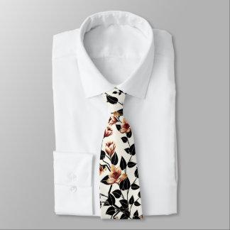 Floral Pattern Neck Tie