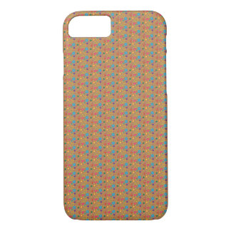 Floral Pattern on Brown Background - iPhone 7 Case