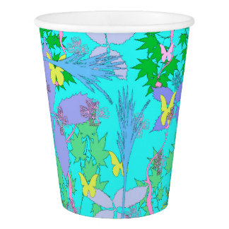 Floral Pattern Paper Cups