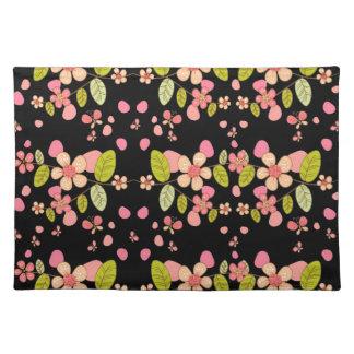 Floral pattern placemat