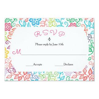 Floral Pattern - RSVP Card