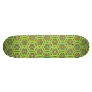 Floral pattern skateboard