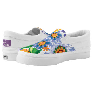 Floral Pattern Slip-On Shoes