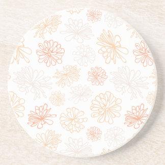 Floral Pattern Succulent Garden Botanical Print Coaster