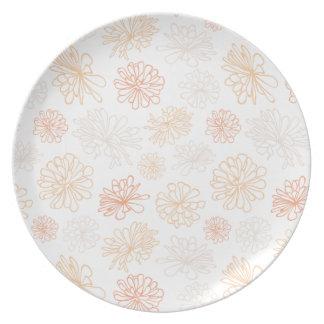 Floral Pattern Succulent Garden Botanical Print Dinner Plate