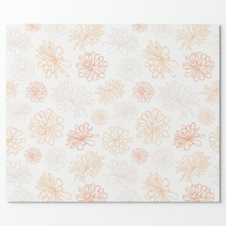 Floral Pattern Succulent Garden Botanical Print Wrapping Paper
