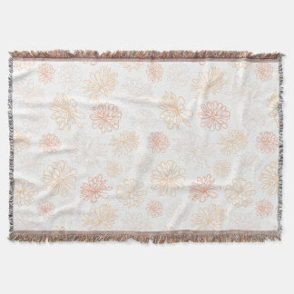 Floral Pattern Succulent Plant Botanical Print Throw Blanket