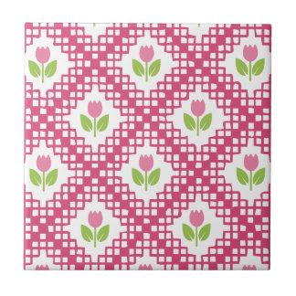 Floral Pattern Tile Small Square Tile