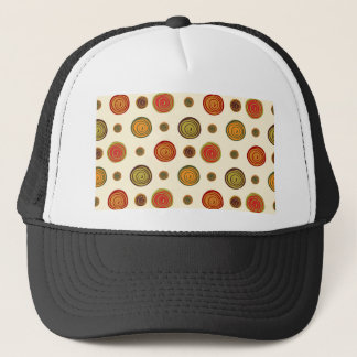 Floral pattern trucker hat