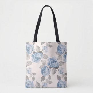 Floral pattern. Vintage blue roses Tote Bag