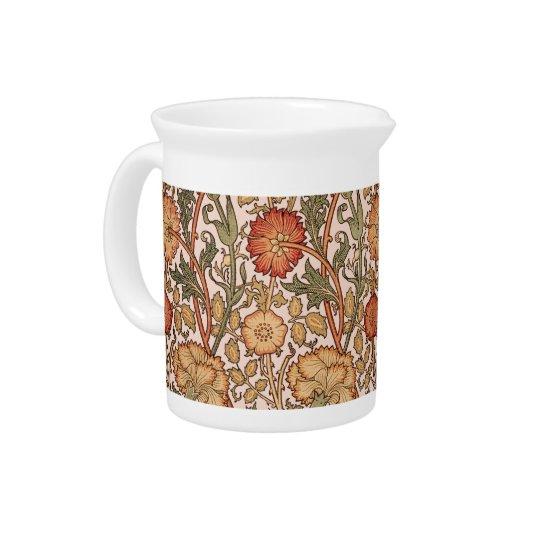Floral Pattern Vintage Pink Designer Fabric Pitcher