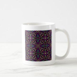floral pattern violet basic white mug