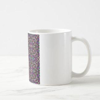 floral pattern violet mug