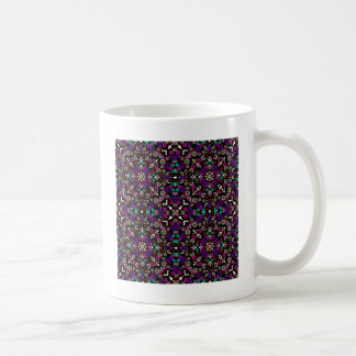 floral pattern violet coffee mug