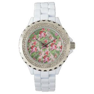 floral pattern watch