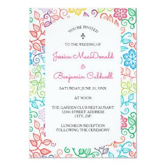 Floral Pattern - Wedding Invitation