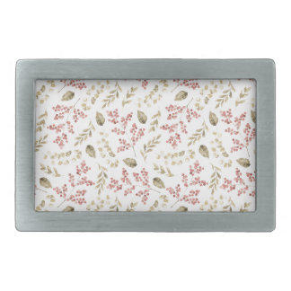 Floral pattern with berries belt buckles