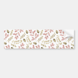 Floral pattern with berries bumper sticker