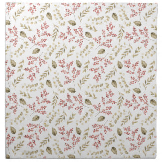 Floral pattern with berries napkin