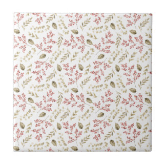 Floral pattern with berries tile