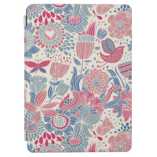 Floral pattern with bird and butterfly iPad air cover