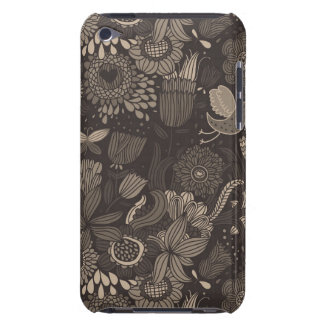 Floral pattern with cartoon birds 2 barely there iPod case