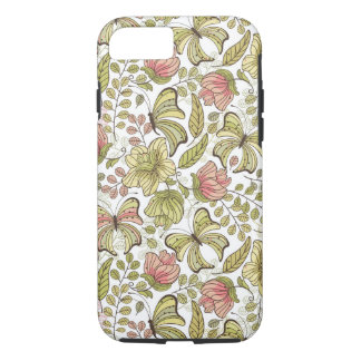 floral pattern with flowers and butterflies iPhone 8/7 case