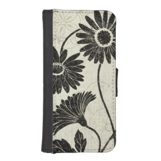 Floral Patterns in Black and White iPhone SE/5/5s Wallet Case