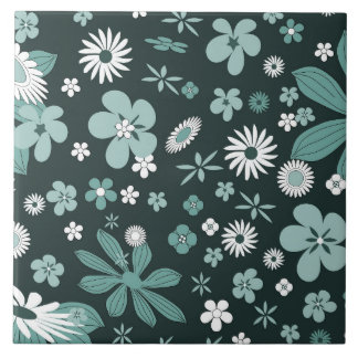 Floral Patterns Large Square Tile