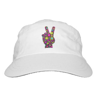 FLORAL PEACE HAND SIGN HAT
