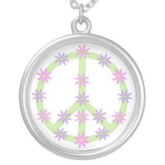 Floral Peace Sign Necklace