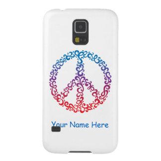 Floral Peace Symbol Galaxy S5 Case