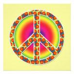 Floral Peace symbol Photograph