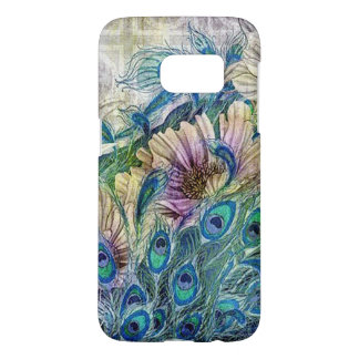 Floral Peacock Feathers Cell Phone Case