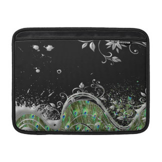Floral Peacock Grunge Splatter MacBook Air Sleeves