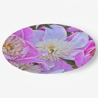 FLORAL/PEONIES PAPER PLATES