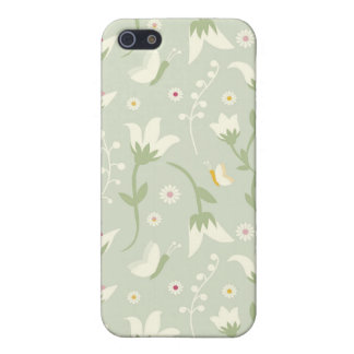 Floral Pern Spring White Tulips iPhone 5 Cover