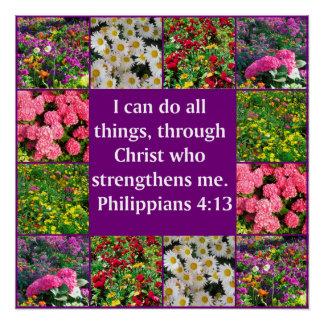FLORAL PHILIPPIANS 4:13 DESIGN