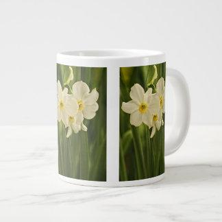 Floral Photography:  White Spring Narcissus Jumbo Mug