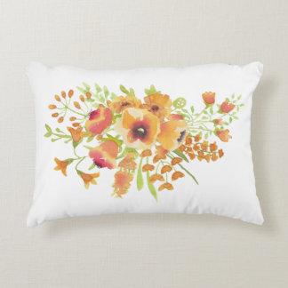 Floral Pillow - Warm Orange